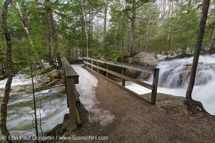"The Pemigewasset River, just above the ""The Basin"" viewing area, in Franconia Notch State Park of Lincoln, New Hampshire USA during the spring months."
