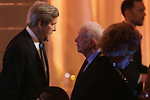 United States Secretary of State John Kerry (L) talks with former President Jimmy Carter during a dinner on the occasion of the U.S.-Africa Leaders Summit on the South Lawn of the White House August 5, 2014 in Washington, DC. President Barack Obama is promoting business relationships between the United States and African countries during the three-day U.S.-Africa Leaders Summit, where 49 heads of state are meeting in Washington. <br /> Credit: Chip Somodevilla / Pool via CNP<br /> Credit: Chip Somodevilla / Pool via CNP