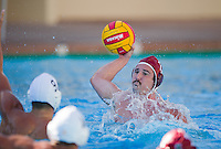 STANFORD, CA - October 9, 2010: Peter Sefton during a water polo game against USC in Stanford, California. Stanford beat USC 5-3.