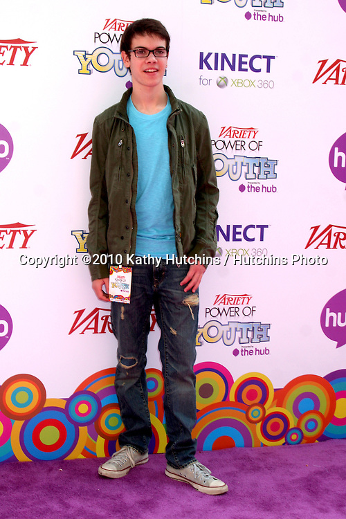 LOS ANGELES - OCT 24:  Alexander Gould arrives at the Variety Power of Youth Event 2010 at Paramount Studios on October 24, 2010 in Los Angeles, CA