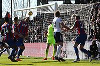 Harry Kane of Tottenham Hotspur scores the opening goal during Crystal Palace vs Tottenham Hotspur, Premier League Football at Selhurst Park on 25th February 2018