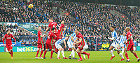 Huddersfield Town's Thomas Ince (2nd right) shoots at goal from a freekick<br /> <br /> Photographer Alex Dodd/CameraSport<br /> <br /> The Premier League - Huddersfield Town v Swansea City - Saturday 10th March 2018 - John Smith's Stadium - Huddersfield<br /> <br /> World Copyright &copy; 2018 CameraSport. All rights reserved. 43 Linden Ave. Countesthorpe. Leicester. England. LE8 5PG - Tel: +44 (0) 116 277 4147 - admin@camerasport.com - www.camerasport.com