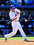 7 March 2010: New York Mets' outfielder Jeff Francoeur in action during a Spring Training game against the Washington Nationals at Tradition Field in Port St. Lucie, Florida. The Mets edged out the Nationals 6-5 in Grapefruit League pre-season play. Mandatory Credit: Ed Wolfstein Photo