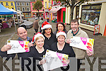 Martin Stack, Stacks Off-Licence, Stacy Heffernan, Brodericks Pharmacy, Marie Kennelly, Elizabelle, Damen Stack, Stacks Furniture and in front: Jackie Stack and Mary Dillon, Brodericks Pharmacy, at the launch of the Listowel Town Voucher Scheme on Friday..