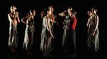 "Candoco Dance Company. ""Set and Reset/Reset"". Part of 20th Anniversary triple bill. Cast: Darren Anderson, Elinor Baker, Dan Daw, Mirjam Gurtner, Annie Hanauer, Victoria Malin, Chris Owen, Abigail Yager"
