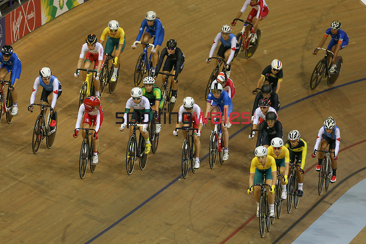 Glasgow 2014 Commonwealth Games<br /> Elinor Barker (Wales)<br /> Womens 10km Scratch Race<br /> Sir Chris Hoy Velodrome<br /> 26.07.14<br /> ©Steve Pope-SPORTINGWALES