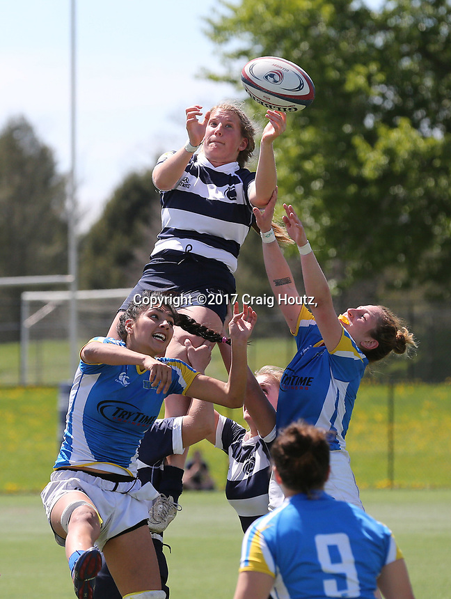 Penn State women's rugby against Notre Dame College women's rugby in the USA Rugby D1 Elite 15s National Championship Round of 8 on April 23, 2017. Penn State won 62-8. Photo/©2017 Craig Houtz