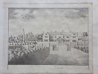 A drawing pf Prideaux Place by Edmund Prideaux in 1741. He was strongly influenced by his Grand Tour of Italy and subsequently took to drawing country houses on his return