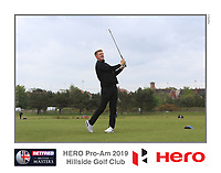 Michael Farr (AM) playing with Marcus Kinhult (SWE) on the 10th tee during the Pro-Am of the Betfred British Masters 2019 at Hillside Golf Club, Southport, Lancashire, England. 08/05/19<br /> <br /> Picture: Thos Caffrey / Golffile<br /> <br /> All photos usage must carry mandatory copyright credit (&copy; Golffile | Thos Caffrey)