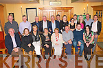 RETIREMENT PARTY: Paud O'Connell, Abbeydorney (seated 3rd right) having a great time celebrating his retirement after 44 years with ESB with family and friends at Stokers Lodge restaurant and bar on Friday.