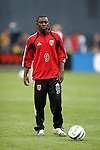 3 April 2004: Fourteen year old Freddy Adu during pregame warmups. DC United defeated the San Jose Earthquakes 2-1 at RFK Stadium in Washington, DC on opening day of the regular season in a Major League Soccer game...