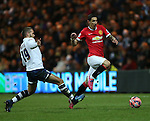 Preston's John Welsh tussles with Manchester United's Angel Di Maria<br /> <br /> FA Cup - Preston North End vs Manchester United  - Deepdale - England - 16th February 2015 - Picture David Klein/Sportimage