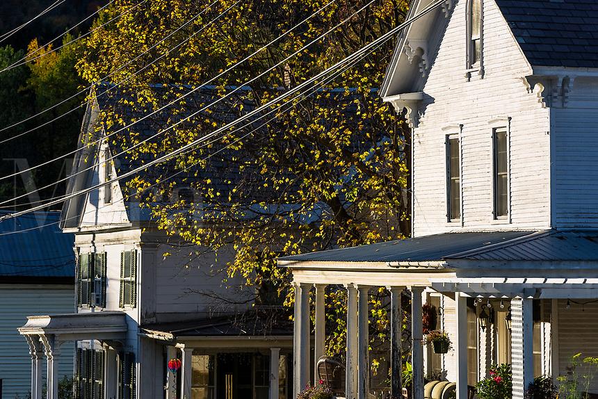 House detail, Wallingford, Vermont, USA.