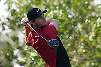 Thomas Pieters (BEL) on the 8th tee during the Pro-Am of the Abu Dhabi HSBC Championship 2020 at the Abu Dhabi Golf Club, Abu Dhabi, United Arab Emirates. 15/01/2020<br /> Picture: Golffile | Thos Caffrey<br /> <br /> <br /> All photo usage must carry mandatory copyright credit (© Golffile | Thos Caffrey)