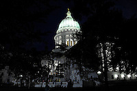 The Madison, Wisconsin State Capitol, where crowds have gathered to urge the recall of Governor Scott Walker
