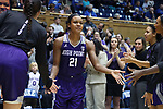 DURHAM, NC - NOVEMBER 16: High Point's Lindsey Edwards. The Duke University Blue Devils hosted the High Point University Panthers on November 16, 2017 at Cameron Indoor Stadium in Durham, NC in a Division I women's college basketball game. Duke won the game 77-50.