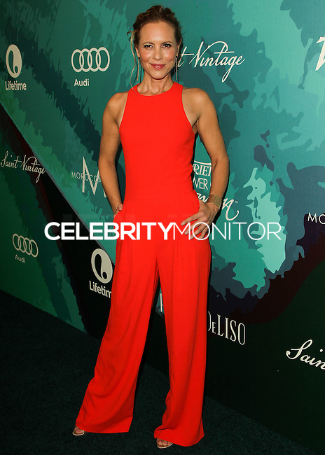 BEVERLY HILLS, CA, USA - OCTOBER 10: Maria Bello arrives at the 2014 Variety Power Of Women held at the Beverly Wilshire Four Seasons Hotel on October 10, 2014 in Beverly Hills, California, United States. (Photo by Celebrity Monitor)