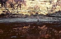 Tribal Australian Aboriginal elder from Arnhem Land at a Sacred site deep in Arnhem Land, Australia