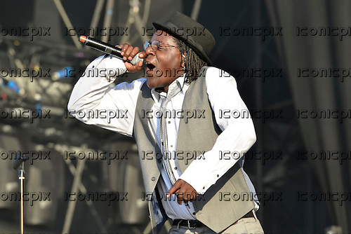 THE SPECIALS - vocalist Neville Staples - performing live at the BT London Live 2012 Olympic Concerts in Hyde Park London UK -12 Aug 2012.  Photo credit: George Chin/IconicPix