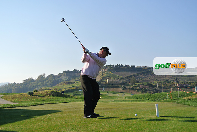 Gary Murphy (IRL) on the 17th on Day 2 of the 2012 Sicilian Open at Verdura Golf and Spa Resort, Sicily, Italy...(Photo Jenny Matthews/www.golffile.ie)
