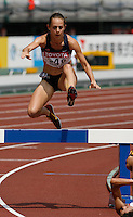 Jennifer Barringer  of the USA ran 9:51.04sec in her heat of the 3000m steeplechase at the 11th. IAAF World Championships on Saturday, August 25, 2007. Photo by Errol Anderson,The Sporting Image.