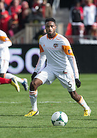 20 April 2013: Houston Dynamo defender Warren Creavalle #5 in action during an MLS game between the Houston Dynamo and Toronto FC at BMO Field in Toronto, Ontario Canada..The game ended in a 1-1 draw...