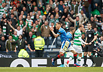 James Tavernier fouls Leigh Griffiths for a penalty