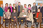 CHEQUE PRESENTATION: Alison Coffey and Fiona Coffey-Whelton presenting Tim Moynihan and the funding raising committee of Recovery Haven with a cheque for €1,805 with monies raised from the Pink Ladies race at the Killarney Regatta last July at Recovery Haven, Tralee on Thursday seated l-r: Maureen O'Brien, Alison Coffey, Tim Moynihan (chairman), Fiona Coffey-Whelton and Judy McCarthy. Back l-r: Eileen Comerford, Phil Stack, Mary O'Regan, Eileen Garvey, Ted Cronin, Marion Barnes, Mary Shanahan, Breda Walshe and Philip O'Neill.