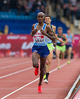 Mo FARAH of GBR races home to win the 3000 metres during the Muller Grand Prix Birmingham Athletics at Alexandra Stadium, Birmingham, England on 20 August 2017. Photo by Andy Rowland.