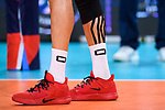 13.09.2019, Paleis 12, BrŸssel / Bruessel<br />Volleyball, Europameisterschaft, Deutschland (GER) vs. Serbien (SRB)<br /><br />Wade / Schuhe Georg Grozer (#9 GER) / Tape / Verletzung<br /><br />  Foto © nordphoto / Kurth