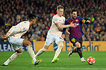 UEFA Champions League 2018/2019.<br /> Quarter-finals 2nd leg.<br /> FC Barcelona vs Manchester United: 3-0.<br /> Chris Smalling, Scott McTominay & Lionel Messi.