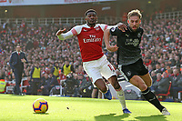 Arsenal's Ainsley Maitland-Niles chases down Burnley's Charlie Taylor<br /> <br /> Photographer David Shipman/CameraSport<br /> <br /> The Premier League - Arsenal v Burnley - Saturday 22nd December 2018 - The Emirates - London<br /> <br /> World Copyright © 2018 CameraSport. All rights reserved. 43 Linden Ave. Countesthorpe. Leicester. England. LE8 5PG - Tel: +44 (0) 116 277 4147 - admin@camerasport.com - www.camerasport.com