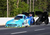 May 7, 2017; Commerce, GA, USA; NHRA funny car driver Tim Wilkerson during the Southern Nationals at Atlanta Dragway. Mandatory Credit: Mark J. Rebilas-USA TODAY Sports