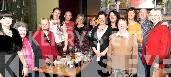 REUNION: Former employees of the Dromquinna hotel, Kenmare enjoying a reunion in the Brook Lane Hotel, Kenmare on Friday night.