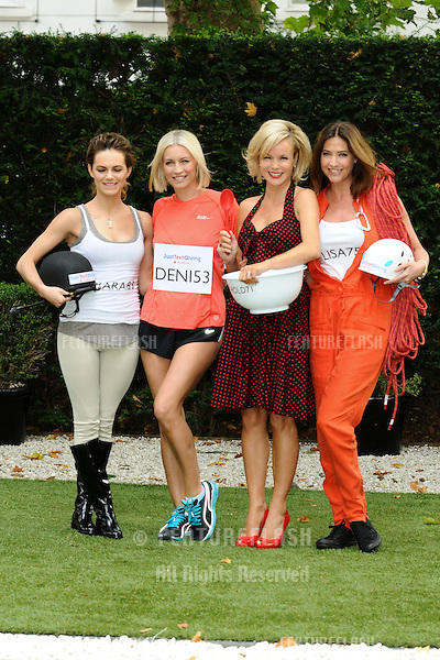 Kara Tointon, Denise Van Outen, Amanda Holden and model, Lisa Snowdon at the launch of the Vodafone JustTextGiving charity challenges, London. 05/09/2011  Picture by: Steve Vas / Featureflash