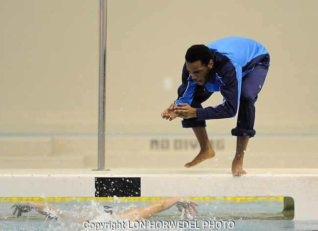 Skyline High School vs Huron High School boy's swimming and diving, Thursday, February 5, 2015, at Skyline High School.