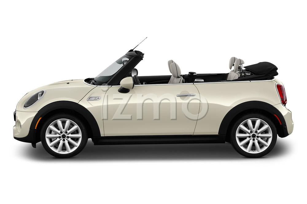 Car driver side profile view of a 2019 Mini Cooper S Signature 2 Door Convertible