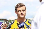 28 May 2013: Robbie Rogers, the first athlete to play a major men's team sport in the United States after coming out as gay. The Los Angeles Galaxy held a training session on Field 3 at WakeMed Soccer Park in Cary, NC the day before playing in a 2013 Lamar Hunt U.S. Open Cup third round game.
