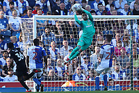 Blackburn Rovers' David Raya makes a save<br /> <br /> Photographer Rachel Holborn/CameraSport<br /> <br /> The EFL Sky Bet League One - Blackburn Rovers v Oxford United - Saturday 5th May 2018 - Ewood Park - Blackburn<br /> <br /> World Copyright &copy; 2018 CameraSport. All rights reserved. 43 Linden Ave. Countesthorpe. Leicester. England. LE8 5PG - Tel: +44 (0) 116 277 4147 - admin@camerasport.com - www.camerasport.com