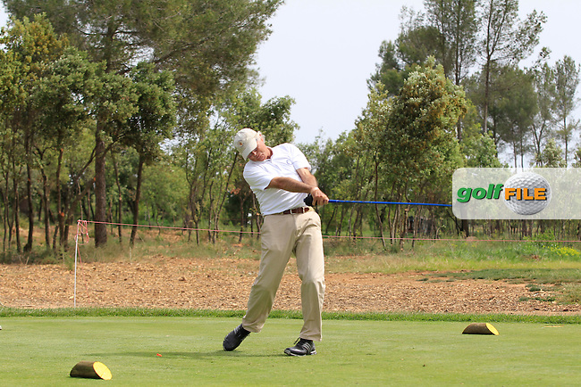 Playing with Y.E.Yang (KOR) on the 4th tee during the Pro-Am of the Open de Espana  in Club de Golf el Prat, Barcelona on Wednesday 13th May 2015.<br /> Picture:  Thos Caffrey / www.golffile.ie