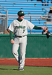 February 24, 2012:   Utah Valley Wolverines head coach Eric Madsen against the Nevada Wolf Pack during their NCAA baseball game played at Peccole Park on Friday afternoon in Reno, Nevada.