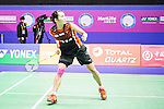 Tai Tzu Ying of Taiwan competes against Pusarla V. Sindhu of India during their Women's Singles Final of YONEX-SUNRISE Hong Kong Open Badminton Championships 2016 at the Hong Kong Coliseum on 27 November 2016 in Hong Kong, China. Photo by Marcio Rodrigo Machado / Power Sport Images