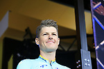 Jakob Fuglsang (DEN) Astana Pro Team on stage at the Team Presentation in Burgplatz Dusseldorf before the 104th edition of the Tour de France 2017, Dusseldorf, Germany. 29th June 2017.<br /> Picture: Eoin Clarke | Cyclefile<br /> <br /> <br /> All photos usage must carry mandatory copyright credit (&copy; Cyclefile | Eoin Clarke)