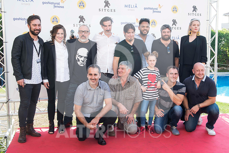 Kiko Martinez, Lara Izaguirre, Alex de la Iglesia, Paul Urkijo, Carolina Bang, Luis de Oza, Kandido Uranga and Uma Bracaglia attends to photocall of film 'Errementari' at Sitges Film Festival in Barcelona, Spain October 12, 2017. (ALTERPHOTOS/Borja B.Hojas)