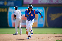 South Bend Cubs right fielder Chris Pieters (28) runs the bases during a game against the Kane County Cougars on May 3, 2017 at Four Winds Field in South Bend, Indiana.  South Bend defeated Kane County 6-2.  (Mike Janes/Four Seam Images)