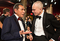 Wes Studi and Danieil Day Lewis at The 90th Oscars&reg; at the Dolby&reg; Theatre in Hollywood, CA on Sunday, March 4, 2018.<br /> *Editorial Use Only*<br /> CAP/PLF/AMPAS<br /> Supplied by Capital Pictures