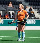 AMSTELVEEN  - Jasmijn Pouw (Gro)    Hoofdklasse hockey dames ,competitie, dames, Amsterdam-Groningen (9-0) .     COPYRIGHT KOEN SUYK