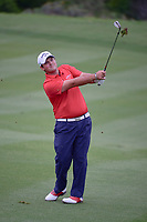 Patrick Reed (USA) watches his approach shot on 17 during round 1 of the Valero Texas Open, AT&amp;T Oaks Course, TPC San Antonio, San Antonio, Texas, USA. 4/20/2017.<br /> Picture: Golffile | Ken Murray<br /> <br /> <br /> All photo usage must carry mandatory copyright credit (&copy; Golffile | Ken Murray)