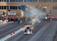 Jul 22, 2017; Morrison, CO, USA; NHRA top fuel driver Steve Torrence during qualifying for the Mile High Nationals at Bandimere Speedway. Mandatory Credit: Mark J. Rebilas-USA TODAY Sports