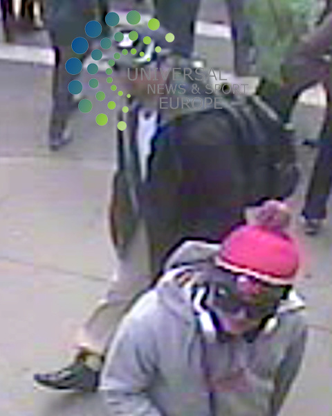 The FBI has released better quality photos of two suspects it wants to identify as part of the investigation into Monday's Boston marathon bombings.<br /> CCTV captured the two men, one wearing a dark-coloured baseball cap and the other a white cap, near the scene.<br /> FBI Agent Richard DesLauriers warned members of the public not to approach the two men.<br /> Picture: FBI/Universal News And Sport (Europe) 18 April 2015